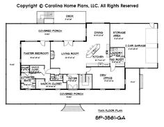 The Glenmoor House Plans First Floor Plan - House Plans by Designs ...