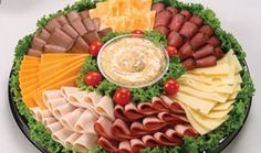 pictures of deli meat and cheese trays | This is our top of the line meat and cheese tray, featuring Natural ...