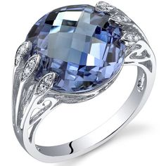 Peora.com - 7 cts Round Cut Alexandrite Sterling Silver Ring SR10720, $74.99 (http://www.peora.com/intricate-7-00-carats-double-checkerboard-cut-alexandrite-ring-in-sterling-silver-size-5-to-9-style-sr10720/)