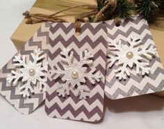 Christmas gift tags. snowflake gift tags. Paper by kC2Designs, $4.75