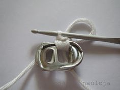 Neuloja ja nauloja: Tölkinvetimistä virkkaaminen Pop Can Tabs, Crafts, Jewelry, Deco, Belts, Rings, Crocheting, Creative, Manualidades