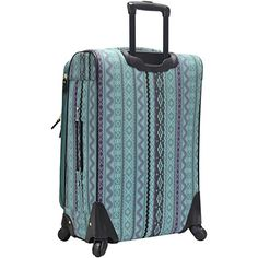 Steve Madden Luggage Large 28 Expandable Softside Suitcase With Spinner Wheels Legends Turquoise ** Check out this great product. (This is an affiliate link) Best Luggage, Luggage Sets, Suitcase Bag, Steve Madden, Legends, Turquoise, Bags, 3 Piece, Wheels