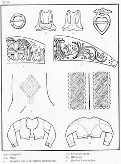 Norra Ny i Värmland Swedish Fashion, Folk Fashion, Costume Patterns, Sewing Patterns, Pattern Paper, Pattern Art, Folk Costume, Costumes, Folk Embroidery