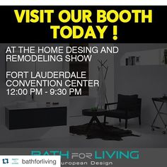 #Repost @bathforliving with @repostapp.  Visit our booth today! At the home desing and remodeling show @FLHomeShows #Florida #Miami #House #Decora #Decoración #Remodela #Plomería #Grifería #Ferretería #EEUU #HomeRenovation #HomeImprovement #OutdoorsPace #uxuryliving #tileaddiction #tiles #wood #miamidesigndistrict #architecture by flhomeshows