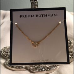 Freida Rothman Pendant This pendant it tiny but cute! I've worn it with earrings which I'm selling in a separate listing. No damage. Only worn once. Maybe twice. Very cute! Buy alone or save and buy a bundle with earrings.  Freida Rothman Jewelry Necklaces