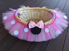 Minnie Mouse medio Tutu temática cesta cesta del regalo de