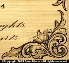 Engraving Illustration, Metal Engraving, Filigree Tattoo, Ornament Drawing, Wood Carving Designs, Leather Pattern, Gravure, Pyrography, Leather Tooling