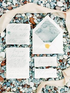 Calligraphy and marble envelope liner | Anastasia Bryukhanova Photography