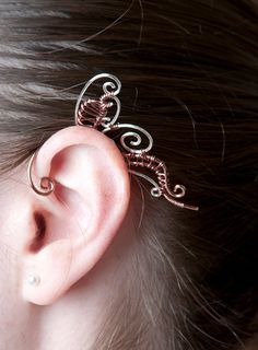Wire Wrapped Butterfly Ear Cuff by SchneiderCrafts1 on Etsy, $50.00