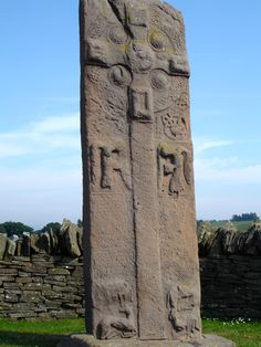 Pictish symbol stone in Angus