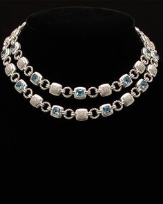 "David Yurman ""Renaissance"" Silver 25.45 ct. tw. Diamond & Topaz Necklace is on Rue. Shop it now."