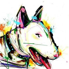 Dog III, por Edson Ramos (@art165ink) #sketch #bullterrier #vamosespalhararte