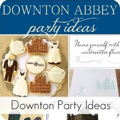 My Sister's Suitcase: Downton Abbey {Party Invitation Printable}