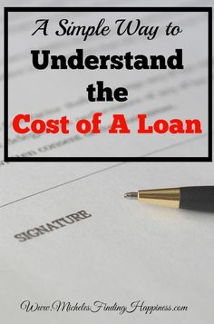 Loans can be confusing, lots of numbers, lots of jargon. Understanding what the cost of a loan is will give you a better idea if you should take the deal.