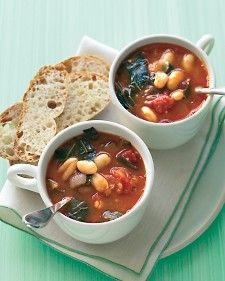 Instead of the usual escarole or kale, use hearty collards in this familiar soup. The greens' slight bitterness plays nicely against the creamy beans and sweet tomatoes.