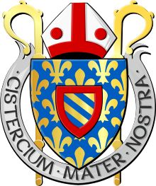Cisterciánsky rád – Wikipédia Coat Of Arms, Symbols, Peace, Culture, Family Crest, Sobriety, The Sentence, Glyphs, World