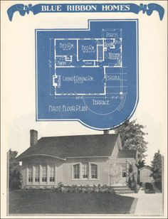 1924 Radford's Blue Ribbon Homes - 11267, the Modern Cottage. It's so tiny and precious!