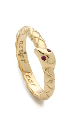 Monica Rich Kosann Never Fear Snake Ruby Ring