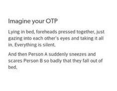 Omg I'd probably be person A in this situation (at least if I had a partner I would...*cries in a corner of loneliness*)