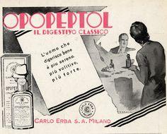 Opopeptol, digestivo Carlo Erba anni '30