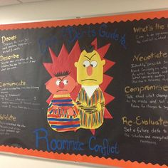 Ernie & Bert's Guide to Roommate Conflict Bulletin Board