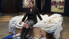"""""""My Bed"""" Tracey Emin  2,7 millions d'euros / Londres Christie's / 27 juin 2014  Lit controversé"""