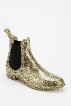 bottes de pluie scintillantes / glitter rain boots!