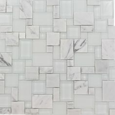 Shop For Breeze Carrara Ice Piazza Pattern Glass And Marble Mosaic Tile Atu2026