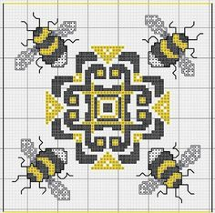 As Busy as a Bee: 13 Ideas for Creativity + Bonus for Needlewomen, фото № 27 Biscornu Cross Stitch, Cross Stitch Charts, Cross Stitch Designs, Cross Stitch Embroidery, Embroidery Patterns, Cross Stitch Patterns, Butterfly Cross Stitch, Cross Stitch Bird, Cross Stitch Animals
