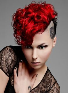 Punk Hair Color Idea...wish I could rock this because I think it's bad ass :)