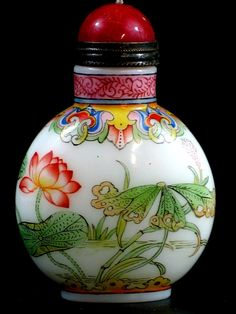 Chinese Enameled Glass Snuff Bottle, Qianlong Mark. CHINESE ANTIQUES : More At FOSTERGINGER @ Pinterest