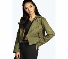 boohoo Crop Utility Jacket - khaki azz17461 Breathe life into your new season layering with the latest coats and jackets from boohoo. Supersize your silhouette in a quilted jacket, stick to sporty styling with a bomber, or protect yourself from http://www.comparestoreprices.co.uk/womens-clothes/boohoo-crop-utility-jacket--khaki-azz17461.asp