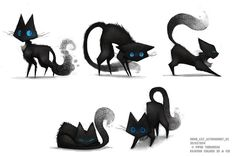 Sidhe - Cat Action Sheet 01 by Cryptid-Creations on deviantART