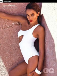 Our sexy one piece cut out looks amazing on Jessica Alba! Buy now at www.oyeswimwear.com