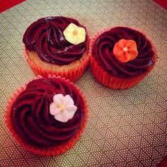 Cupcakes de chocolate sin huevo y sin lactosa!