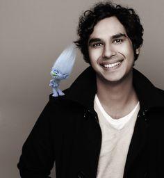 Junal Nayyar is the voice of Guy Diamond in DreamWorks Trolls #DreamWorksTrolls