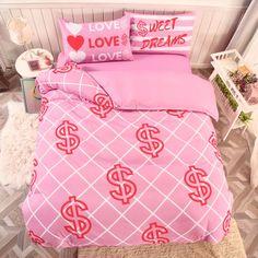 Girls Bedding Sets, Duvet Bedding Sets, Bedroom Setup, Bedroom Decor, Bed Sheet Sets, Bed Sheets, Frozen Bedding, Girl Room, Pink