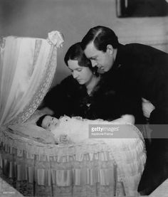 Princess Margaretha as a baby with her royal parents Princess Sibylla of Saxe- Coburg and Prince Gustaf Adolf of Sweden in 1934 in Stockholm, Sweden.