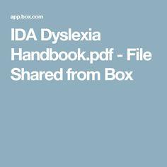 IDA Dyslexia Handbook.pdf - File Shared from Box