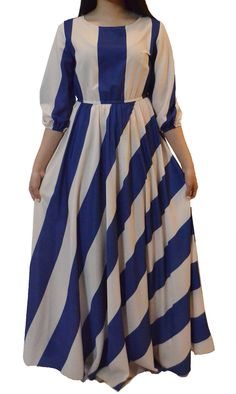 Striped Maxi Modest Maxi Dress, Modest Outfits, Maxi Dresses, Striped Maxi, Everyday Fashion, Kimono, Skirts, Clothes, Shopping