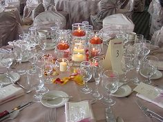 wedding centerpiece photos - floating candle centerpiece