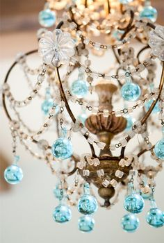 Chandlier. Almost too froo froo for me, but there's something about it I like - maybe in the master bedroom.