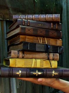 Leather Books Medieval Journey