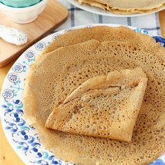 The easiest crepes you'll ever make! Full of wholesome ingredients and perfect for your favorite crepe fillings. Exchange stevia for maple syrup.