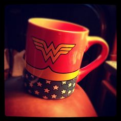 Cup #1 as recommended by @luxielou :D #wonderewoman #morning #coffee by missleslielew ~ is so behind...trying to catch up!, via Flickr
