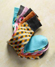 Just a peek-a-boo of pattern, Alfani Spectrum socks