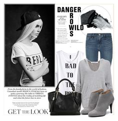 """Wild!"" by claud-637 ❤ liked on Polyvore featuring Frame Denim, H&M, Project Social T, Gorgeous Cosmetics and Kershaw"