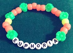 Euphoria kandi Source by Rave Bracelets, Pony Bead Bracelets, Pony Beads, Perler Bead Art, Perler Beads, Friendship Bracelet Patterns, Friendship Bracelets, Secret Bracelet, Rave Gear