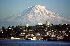 Mount Rainier over Tacoma, WA