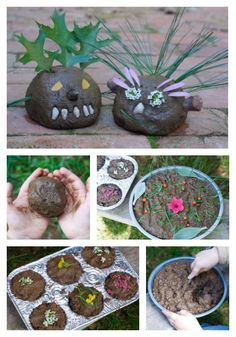 nature school project: mud pies and mud ball critters Forest School Activities, Nature Activities, Outdoor Activities For Kids, Outdoor Learning, Preschool Activities, Outdoor Education, Early Education, Sparkle Stories, Nursery Activities